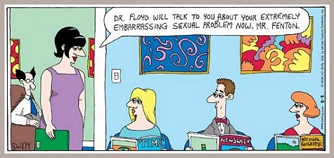hipaa waiting room funny cartoon